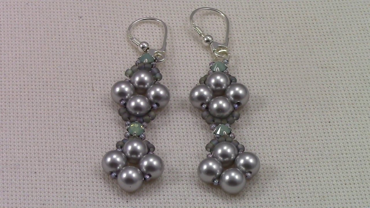 Handmade jewelry Raw Pearl and Montee Earrings 2016,12,02