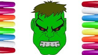 How to Draw The Incredible Hulk Coloring Pages | Hulk Coloring Page for kids |  Kids Coloring pages