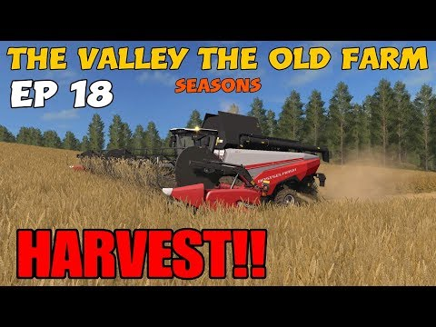 Let's Play Farming Simulator 17 PS4  The Valley The Old Farm, Ep 18 HARVEST!
