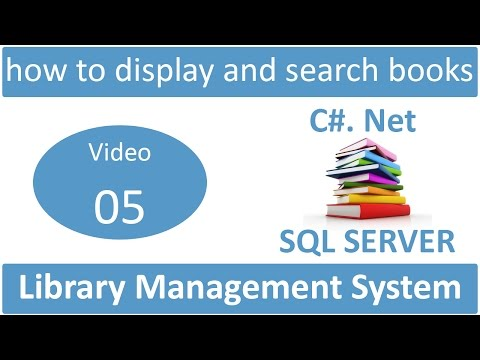 how to display and search books in library management system