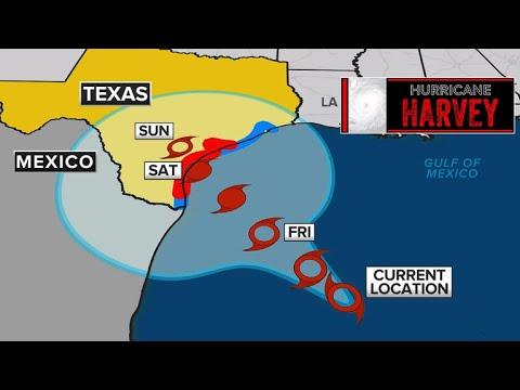 Hurricane Harvey takes aim at Texas