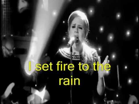 ADELE  Set Fire To The Rain HD  Lyrics Legendado em Inglês