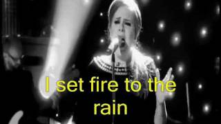 ADELE - Set Fire To The Rain [HD]- Video Lyrics (Legendado em Inglês)