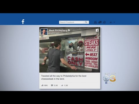 Facebook CEO Mark Zuckerberg Stops In Philly For 'Best Cheesesteak In The Land'
