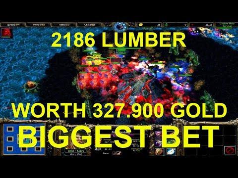 Warcraft 3 | Custom Hero Survival v2.6c | BIGGEST LUMBER BET | 2186 LUMBER WORTH 65.580 GOLD