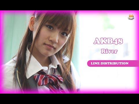 Line Distribution: AKB48 - River (Color Coded)