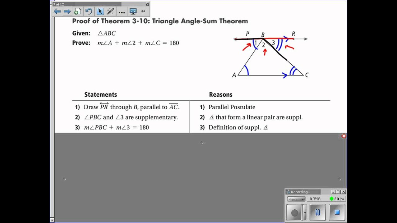 3-5 Parallel Lines and Triangles - YouTube