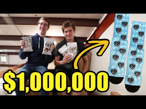 $1,000,000 Selling Custom Dog Socks... THIS Is How