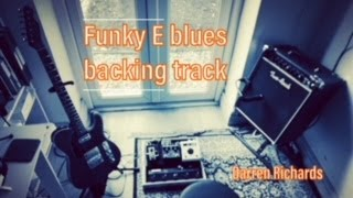 Funky blues backing track in the key of E