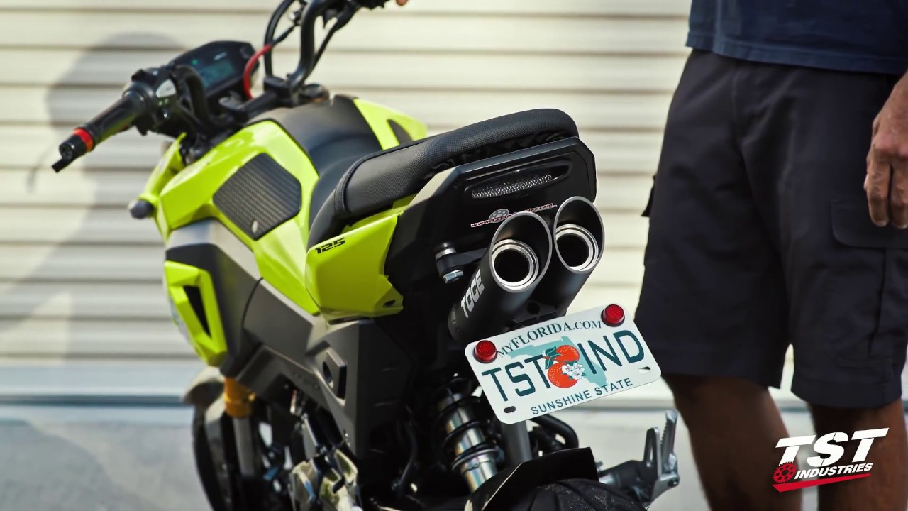 Full Exhaust Sound Honda Grom : Toce, Honda OEM, Yoshimura, Arrow - YouTube