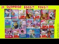 Chocolate Surprise Eggs Hello Kitty Disney Princess frozen Shopkins Kinder Lalaloopsy Minions Toys