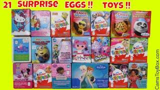Chocolate Surprise Eggs Hello Kitty Disney Princess frozen Shopkins Kinder Lalaloopsy Minions Toys
