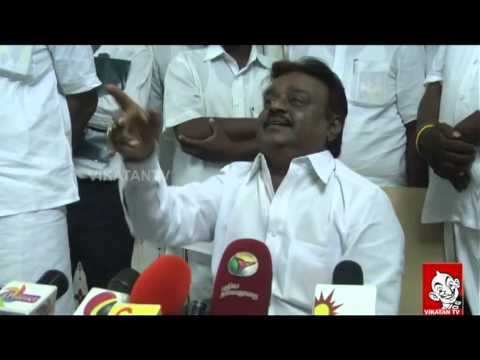 Vijayakanth : 'I am not an Opposition leader""