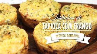 Tortinhas de Tapioca Com Frango Super Fáceis de Fazer e Muito Saborosa