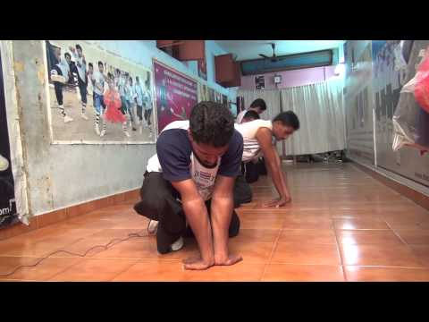 Push Ups India Shaolin Temple Kung-fu Training Master Shifu Prabhakar Reddy AP Wushu Warrior Monk