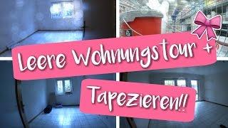 Leere Wohnungstour | Wir tapezieren | Umzugsvlog #1♡ | Vanessa Nicole