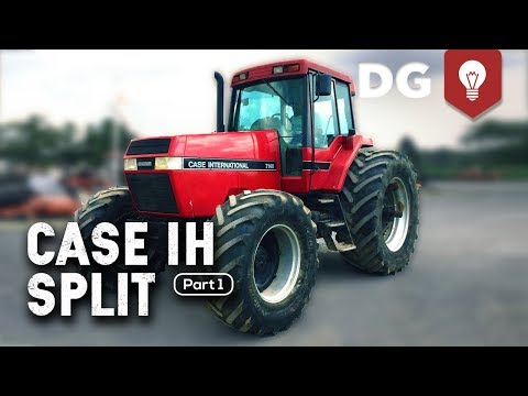 How To Split a Case IH Tractor (7140 Part 1) - YouTube