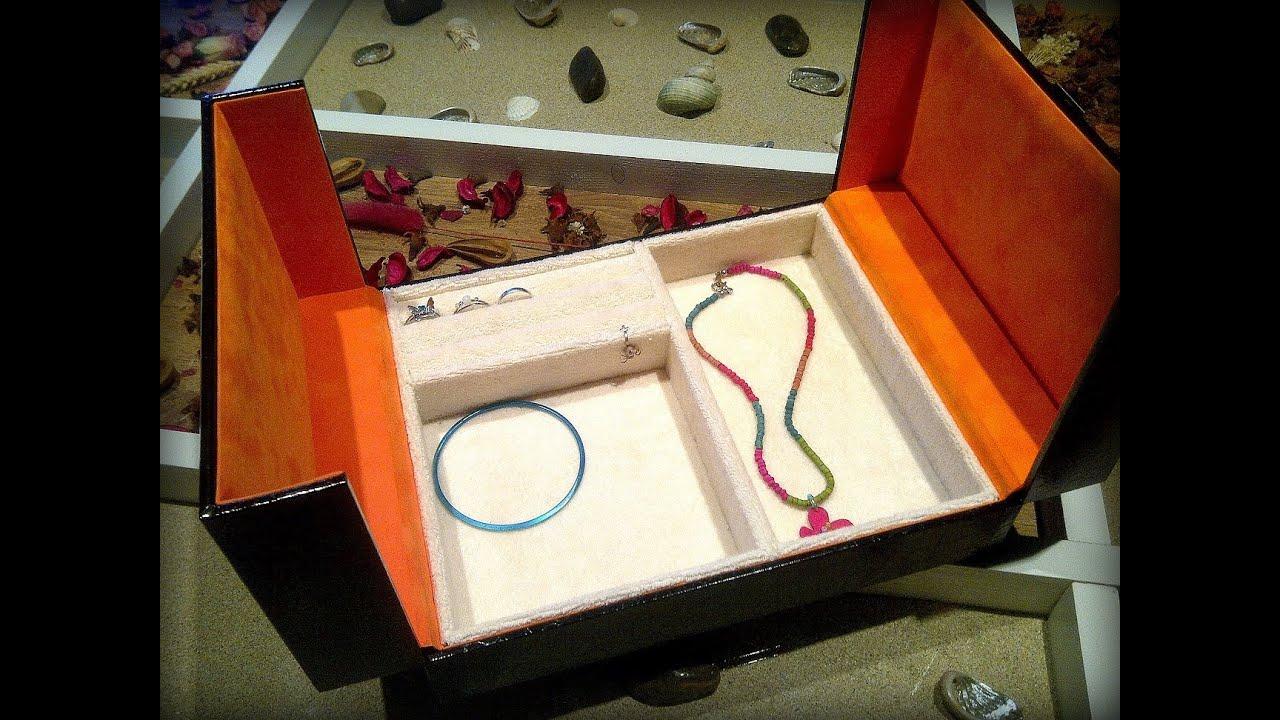 Aql como hacer joyero con una caja youtube - Como forrar una caja con tela ...