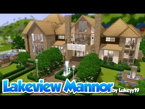 The sims 3 house building hd lakeview manor youtube for Sims 3 6 bedroom house