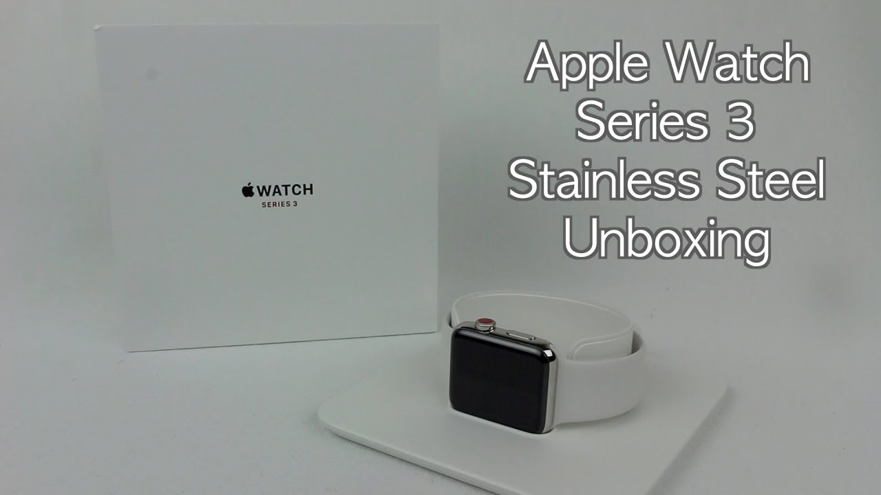 54c6cdd4db9d Apple Watch Series 3 42mm Stainless Steel Soft White Sports Band  Unboxing/Review