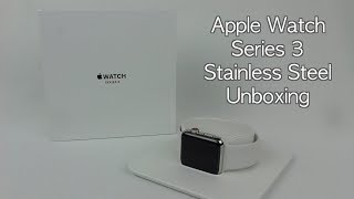 Apple Watch Series 3 42mm Stainless Steel Soft White Sports Band Unboxing/Review