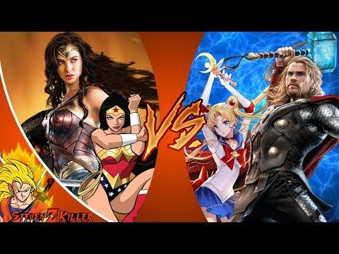 Thor vs Wonder Woman _ DEATH BATTLE! & Sailor Moon VS Wonder Woman CFC Live REACTION!!!