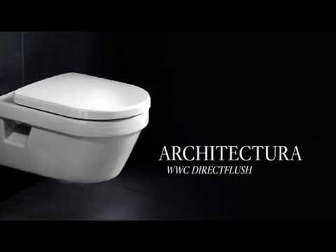 villeroy boch architectura direct flush wc youtube. Black Bedroom Furniture Sets. Home Design Ideas