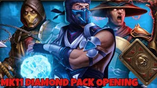 OPENING A ,,NEW '' MK11 DAIMOND PACK!Pulling the NEW MK11 SUB-ZERO in Mortal Kombat Mobile