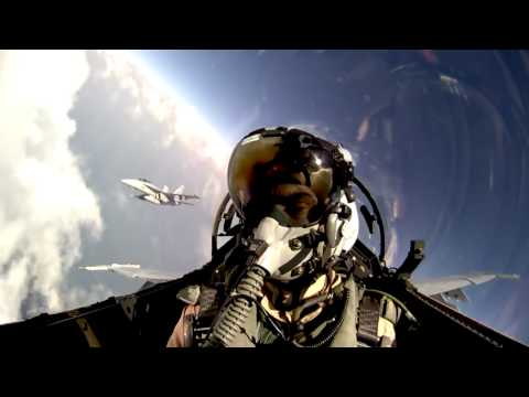 JHMCS in Action - F/A 18 Cloud Surf