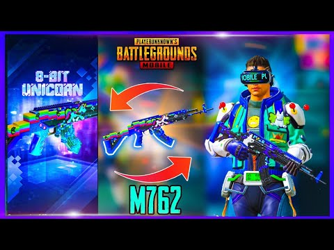 MAX LEVEL 8 BIT UNICORN M762 GUN ( 8 BIT UNICORN CRATE OPENING ) - PUBG MOBILE