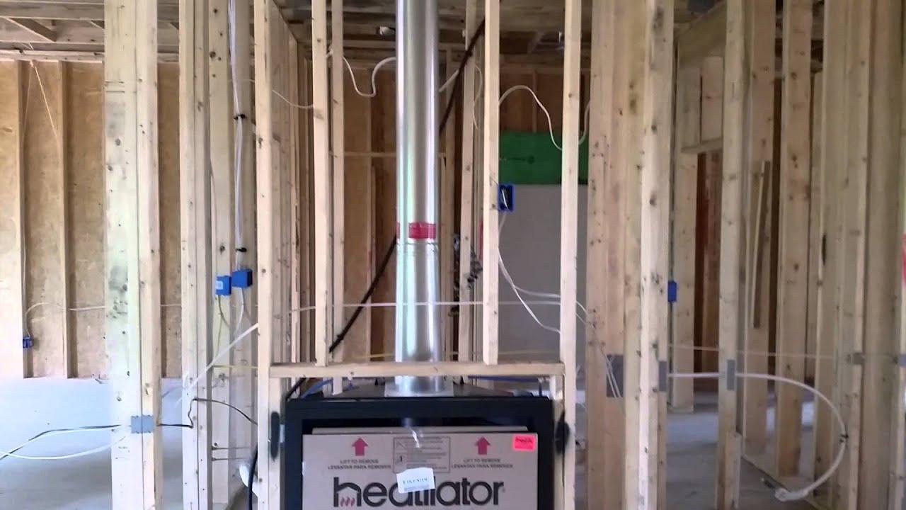 DA Framing Fireplace Wall - YouTube