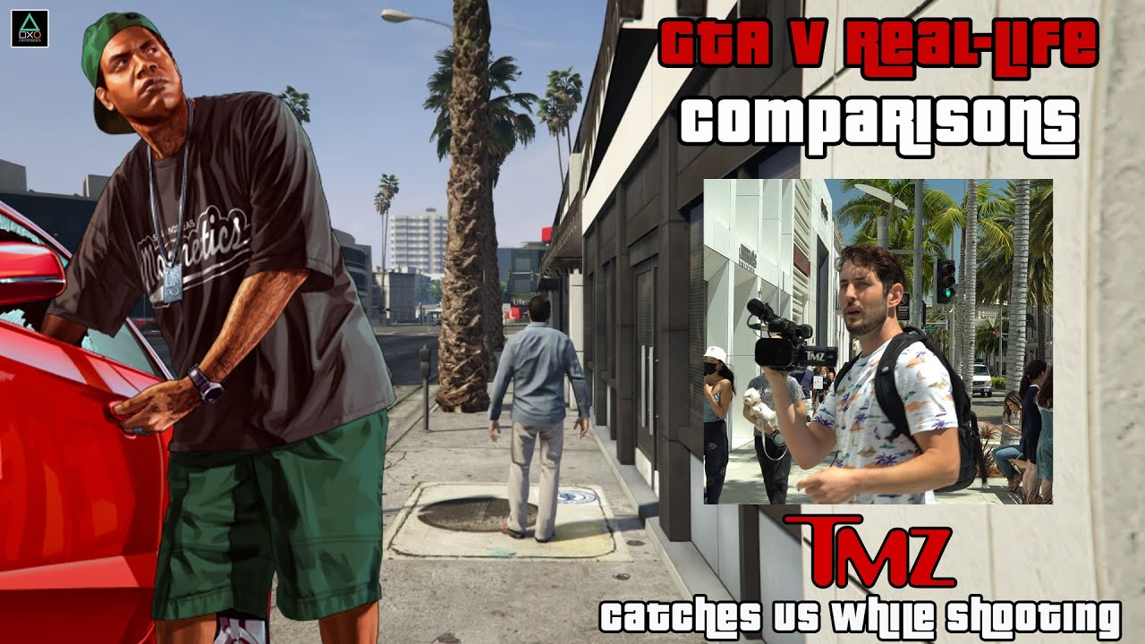 GTA V Real-Life Comparisons: TMZ Catches Us While Shooting