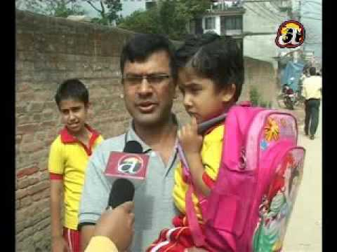Students pain in carrying heavy school bags