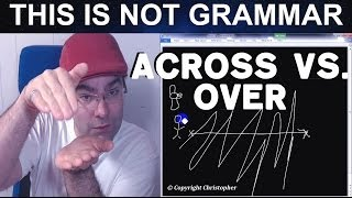 Across vs. Over Across Adverb Preposition English Grammar Over Adverb Learn English Free Videos