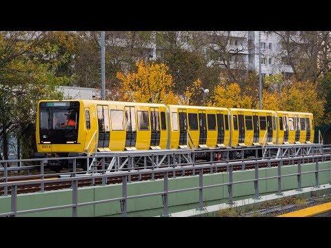 U-Bahn Berlin - IK17 1031 Testfahrten an der Bw Friedrichsfelde [4K]