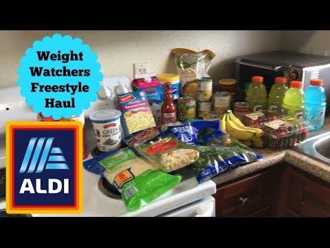 $48 Weekly ALDI Grocery Haul | WW Freestyle Haul