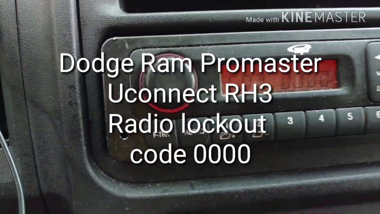 hight resolution of dodge ram promaster 2015 radio uconnect rh3 lock out code 0000 solution