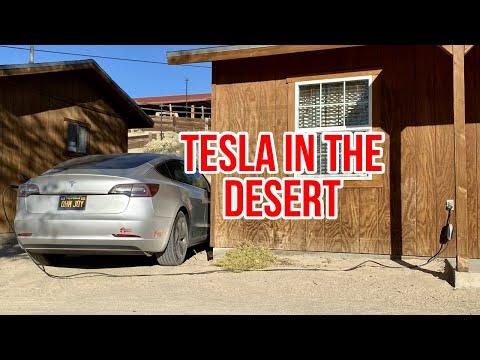 Tesla Model 3 Desert Road Trip With Stats App Smart Features
