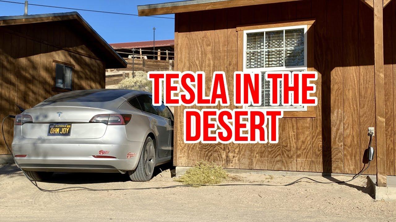 Tesla Model 3 Desert Road Trip With Stats App Smart ...