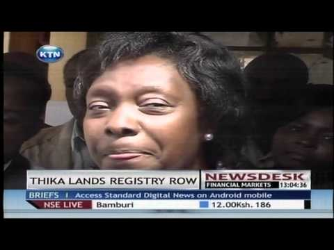 Land Cabinet Secretary Charity Ngilu close land registries for several counties