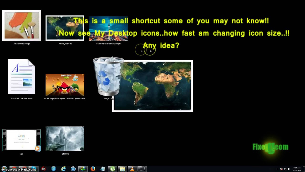 How to easily change desktop icon size on windows 7!!ultra fast in 1 second!! - YouTube