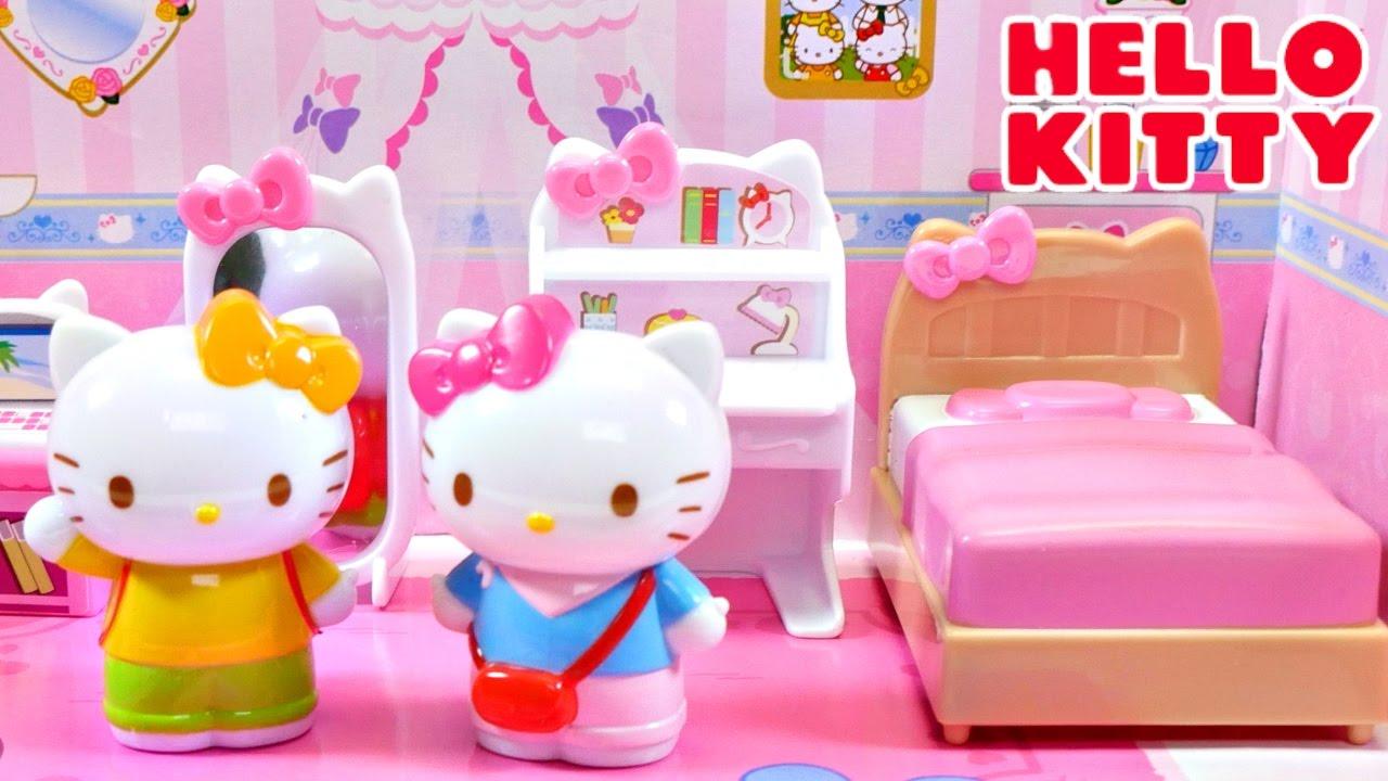 05822fcab451 Hello Kitty y su Dormitorio + Mini Comidita ❤ Set de Dormitorio con Cama  Espejo y mas de Hello Kitty