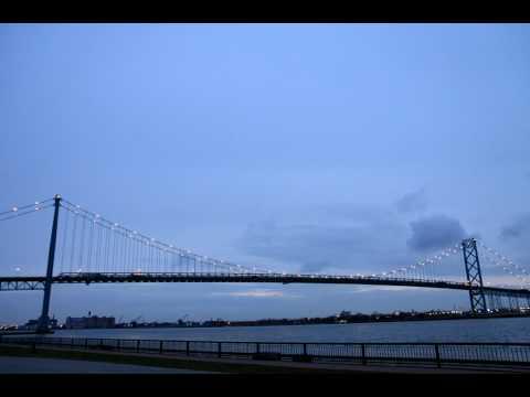 Ambassador Bridge, Windsor - Time Lapse 24fps