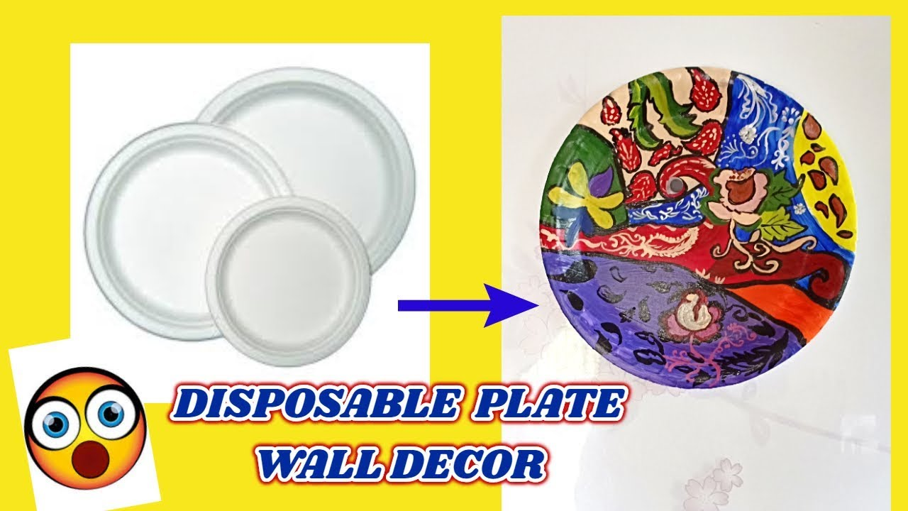 A beautiful DIY decor craft from disposable plates | Best out of ...