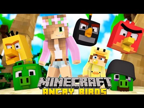 Little Kelly Minecraft - Minecraft Little Kelly Adventures - SAVING ANGRY BIRDS ISLAND w/ Baby Duck