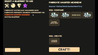TF2 Crafting Halloween hat