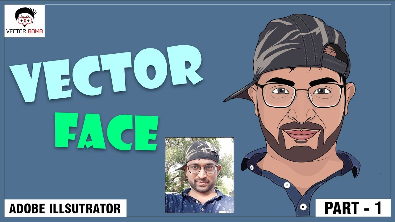 How to Create Cartoon Face of your Real Photo PART - 1 | Adobe Illustrator CC 2017