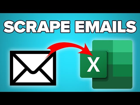 How To Scrape Emails From ANY WEBSITE Into Excel
