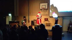 Joulupukin show Haarlan koulussa 2017