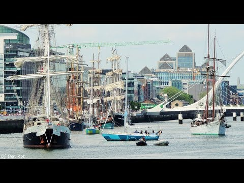 The Tall Ships Regatta 2018 leaving Dublin